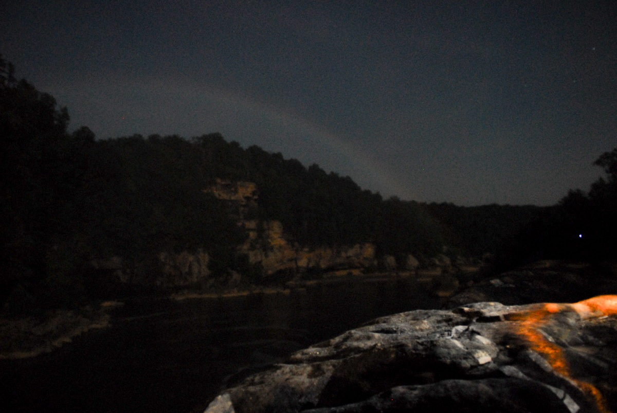 Mondregenbogen (Moonbow) an den Cumberland falls in Kentucky USA (17.7.2008)
