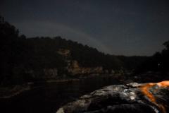 Mondregenbogen (Moonbow) an den Cumberland falls in Kentucky USA (17.7.2008)