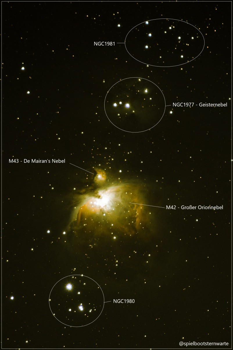 Deep Sky um den Großen Orionnebel M42