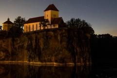 Spiegelung Neowise am Steinbruchsee Bergkirche Beucha (Juli 2020)