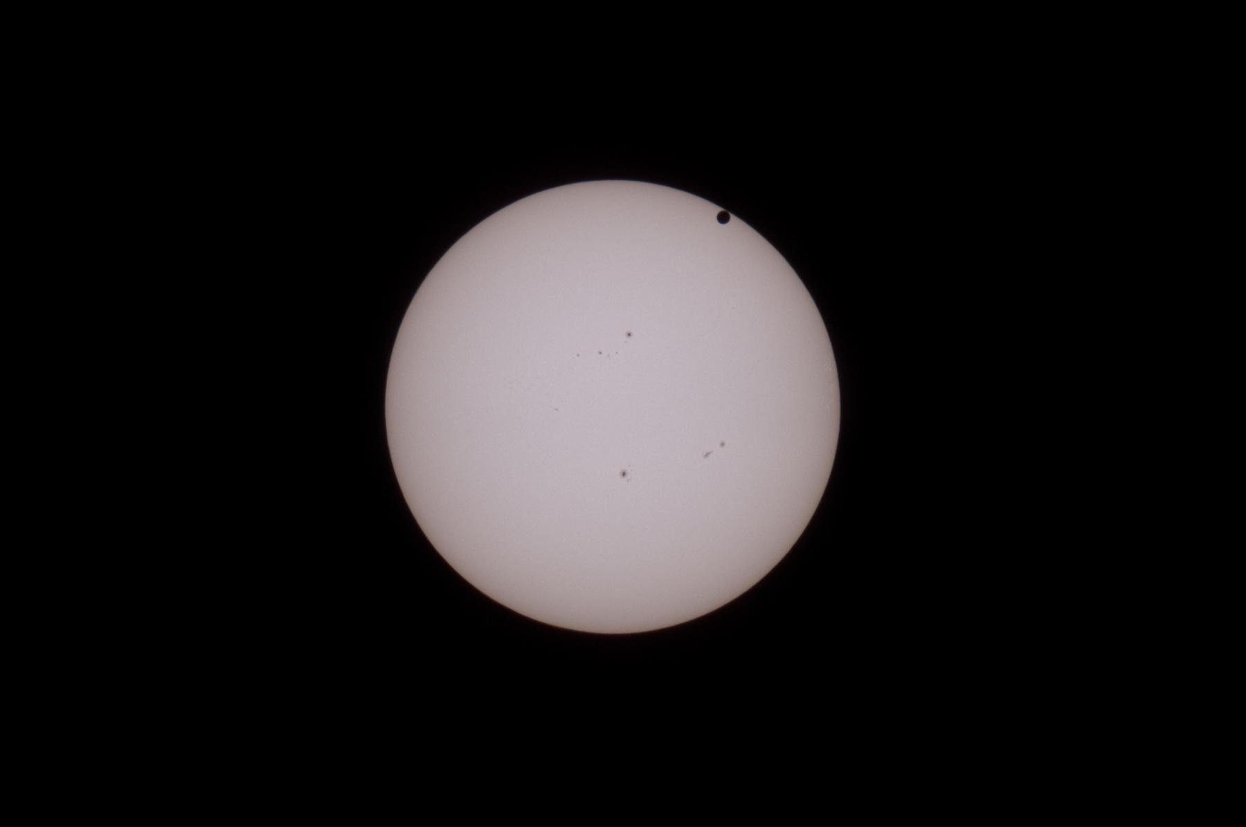 Venustransit vor Sonne 6.6.2012