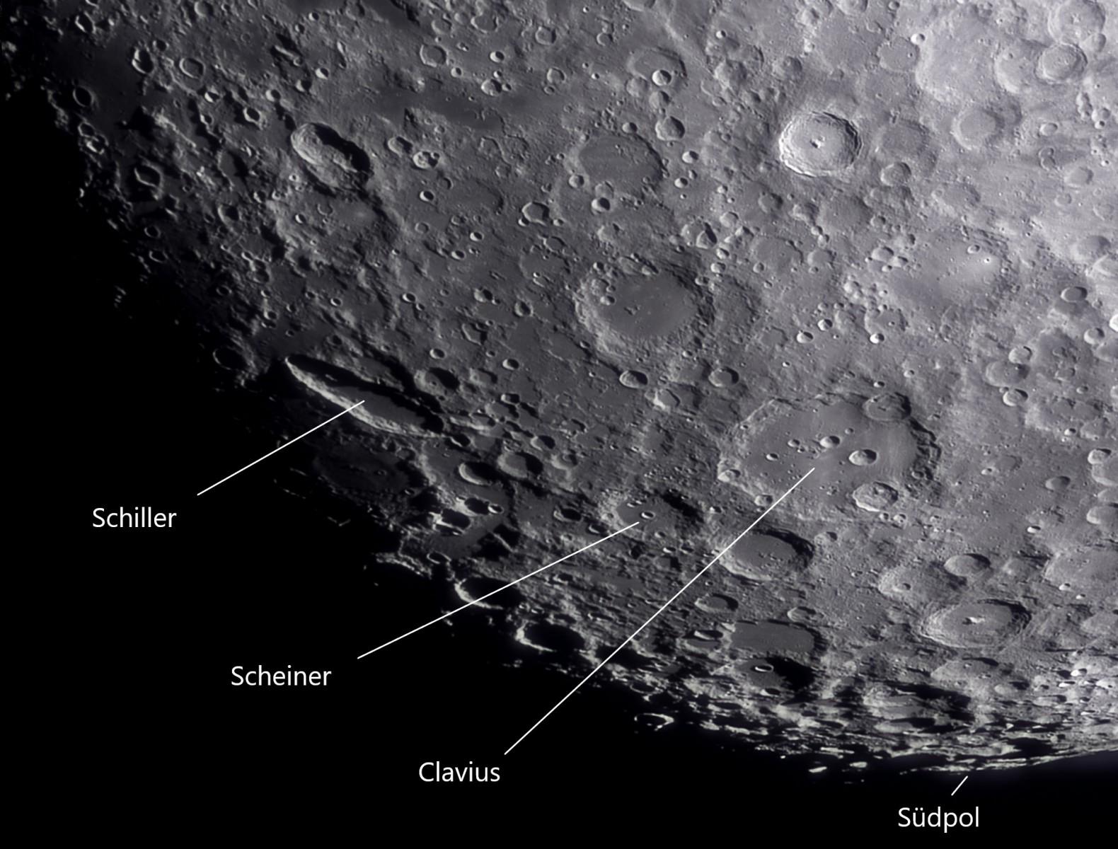 Detailaufnahme Mond Südpol mit ASI183Pro am 100/1500mm Refraktor