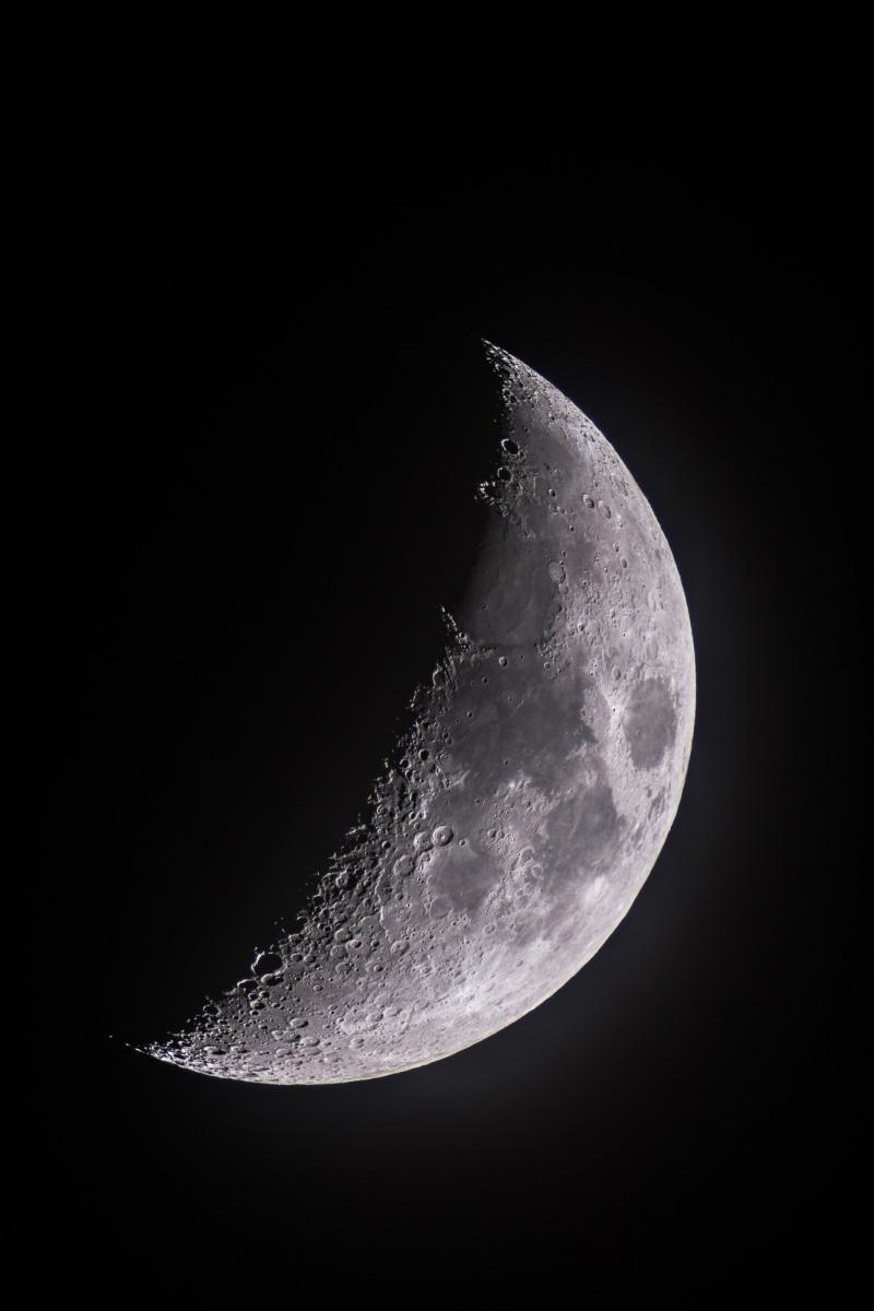 Mond im ersten Viertel
