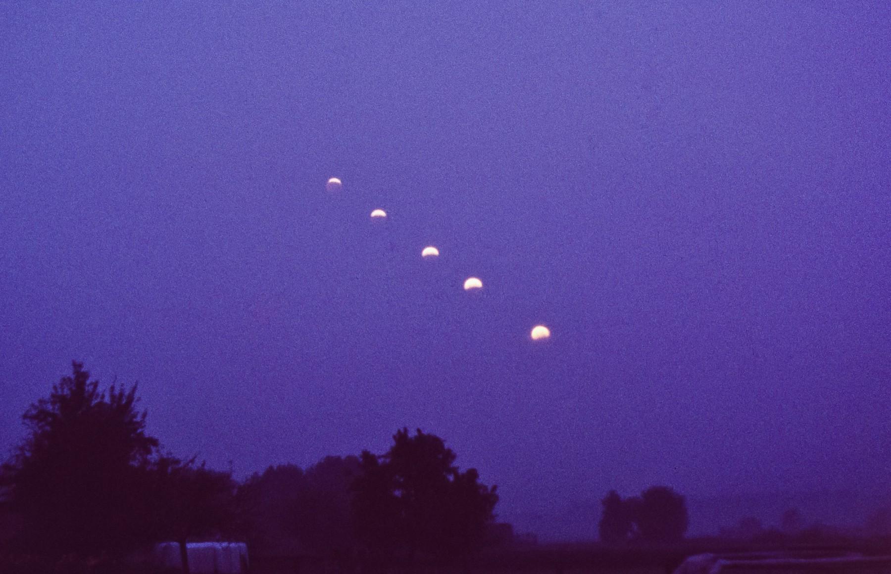 Reihenaufnahme Mondfinsternis  1996