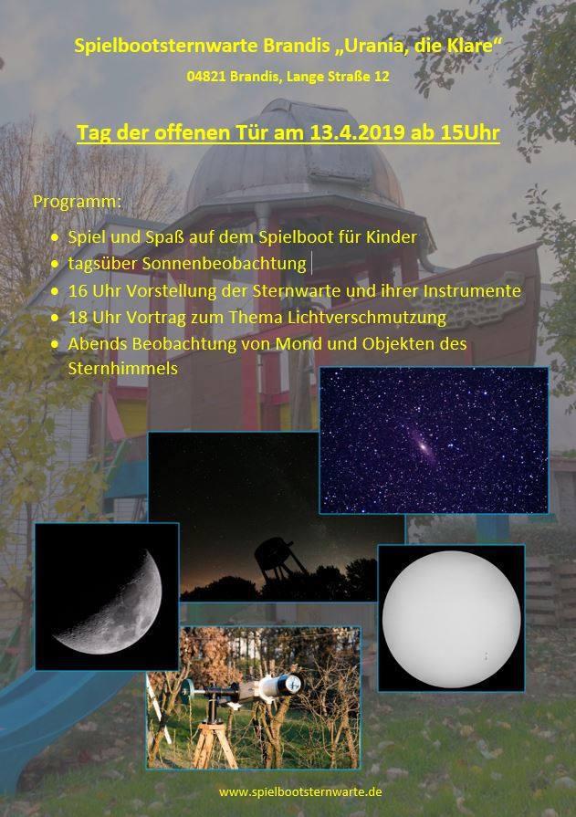 Flyer zum Astronomietag am 19.4.2019